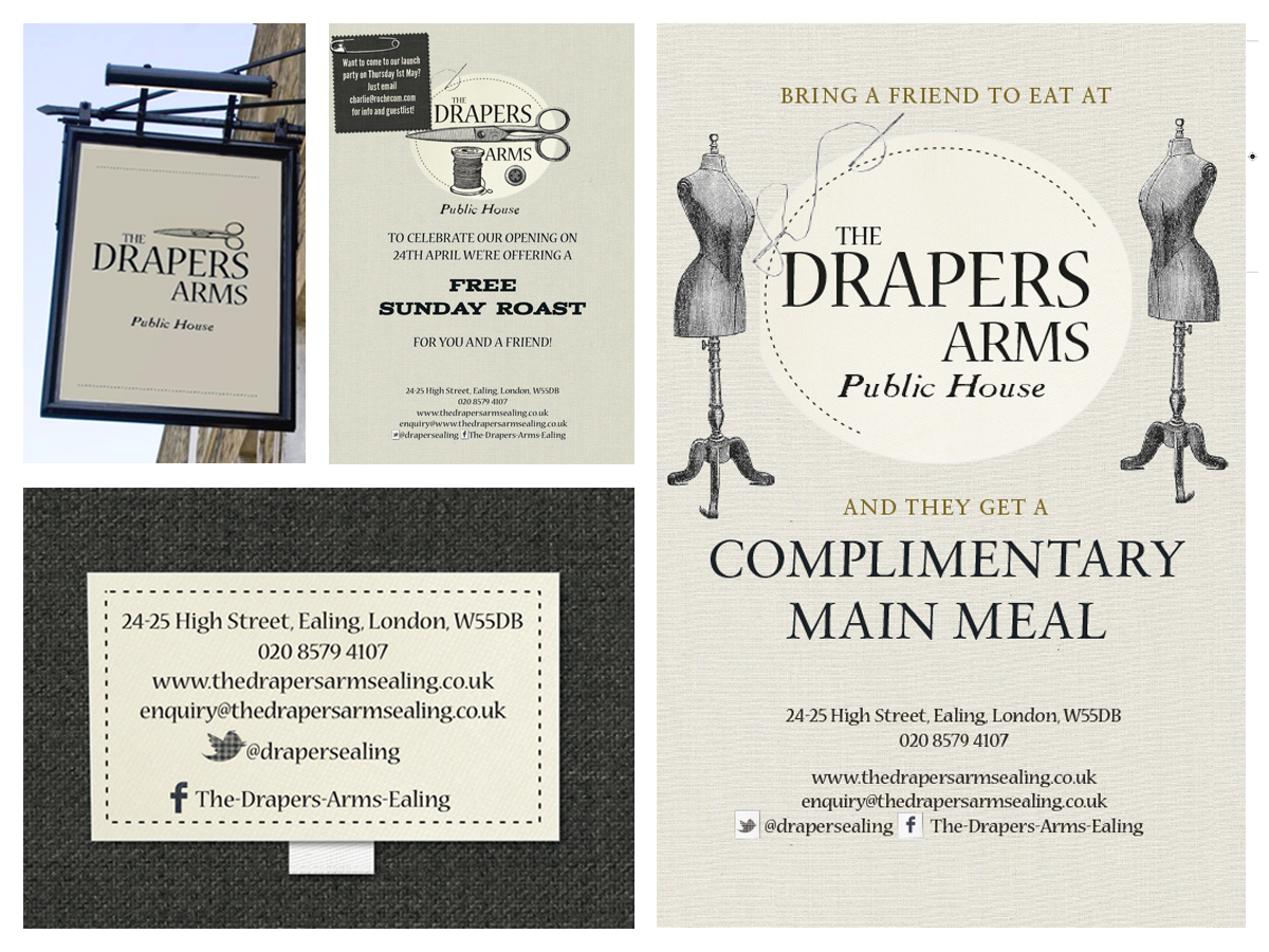Drapers arms, earling branding and design