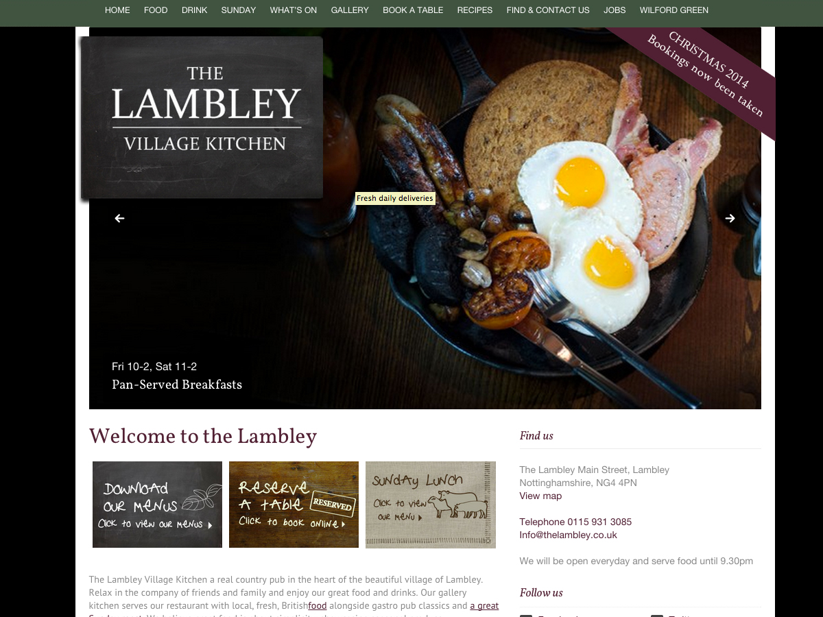 The Lambley, branding design web build