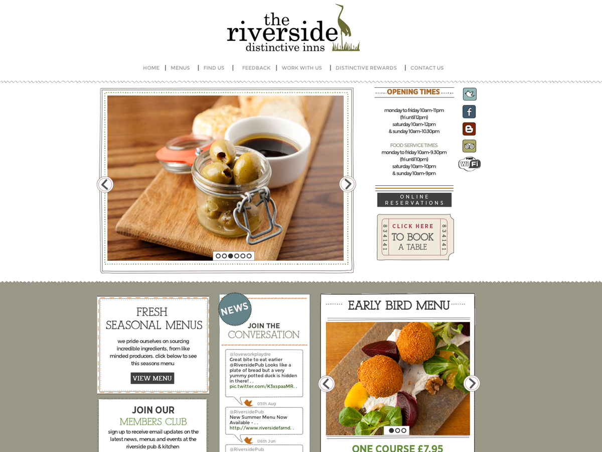 The riverside website design and  print material